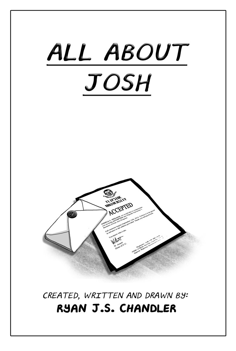 All About Josh title page - The Story Begins