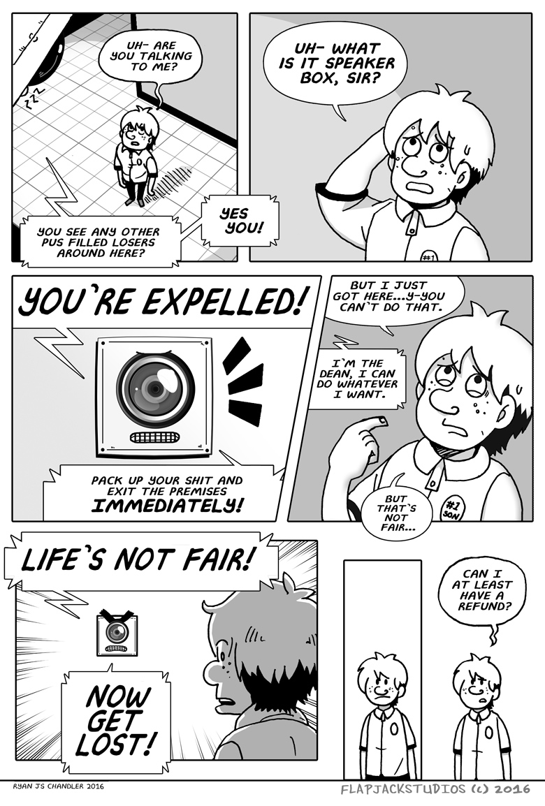 flipside u comic 45 - You`re Expelled